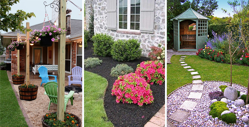 Home with Backyard Landscaping